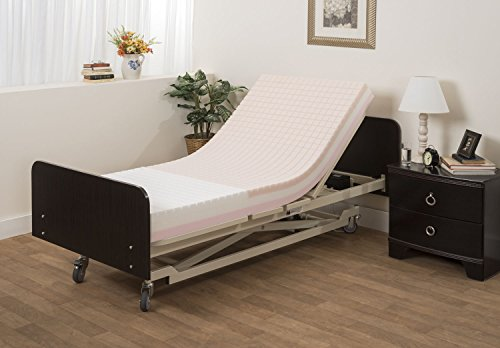 """Pressure Redistribution Foam Mattress with Visco Elastic Memory Foam, 3 Layered Foam, by Medacure - Hospital Grade Cover included (80"""" x 36"""" x 6"""")"""