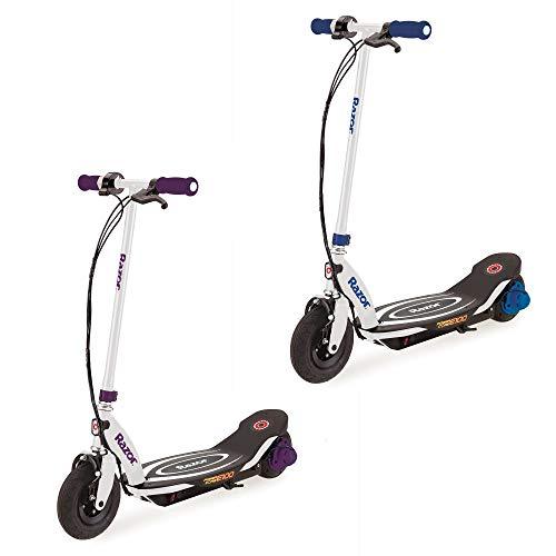 0 Electric Hub Motor Kids Toy Scooters, 1 Purple & 1 Blue ()