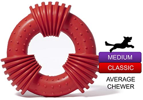Dog Chew Toys for Aggressive Chewers Durable Rubber Dog Toys Tough Dog Chew Toys for Medium Large Dog, Super Chewers Dog Toys Great for Teeth Cleaning,Interactive and Training