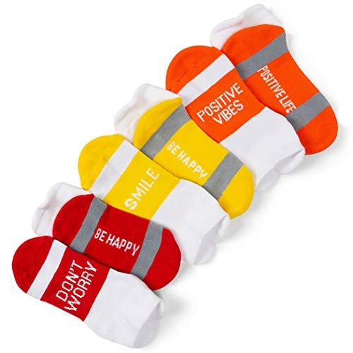 Your Inspirational Message Athletic 3-Pair Multicolored Sock Set | Stay Smiling]()