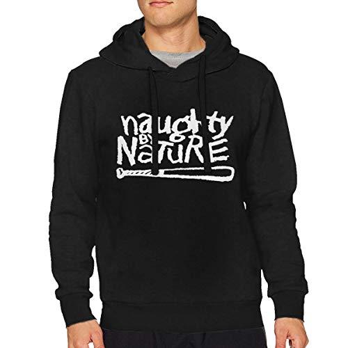Sbbiegen886wo Mans Naughty by Nature Hip Hop Fashion Hoodies Hooded Sweatshirt M Black -