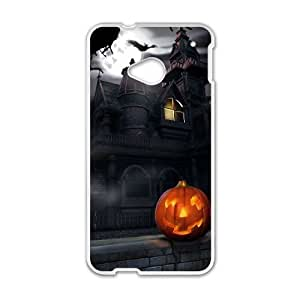 HTC One M7 Cell Phone Case White Halloween BNY_6796739