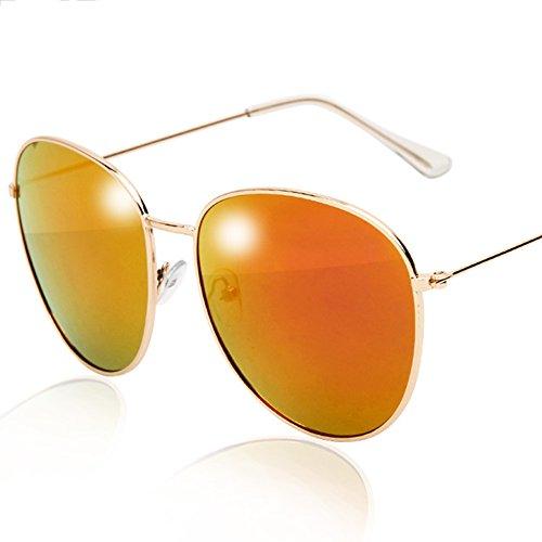 5cf6bb4757 LVZAIXI MENS WOMENS 70's Designer Style Gafas de sol de espejo unisex de  plata - Protección UV400 - Talla única para todos - Lentes con espejos  completos ...