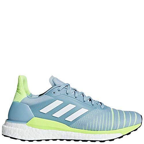 adidas Running Women's Solar Glide Ash Grey/Footwear White/Hi-Res Yellow 9.5 B US (Ash Grey Footwear)