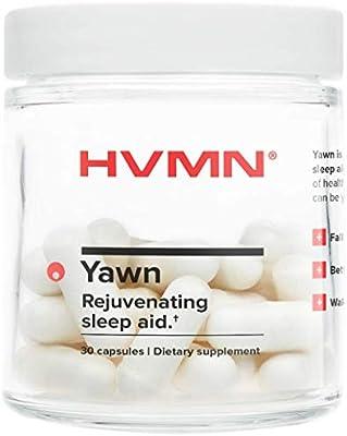 HVMN Yawn Rejuvenating Sleep Aid - Melatonin, L-Theanine, Magnesium, and Glycine Supplement - Month Supply - 30 Count Veggie Capsules