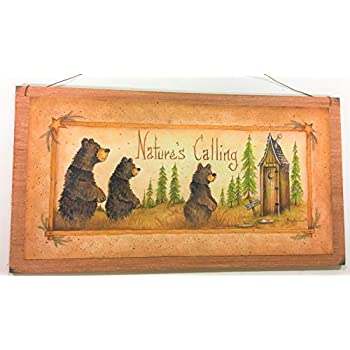 Amazon Com Bear Bottoms Welcome Teddy Country Bathroom Outhouse