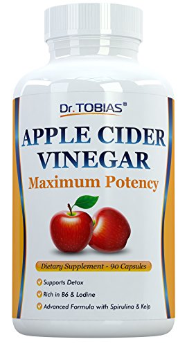 Dr. Tobias Apple Cider Vinegar Complex - To Support Detox and Weightloss - With Spirulina, Kelp and Vitamin B6