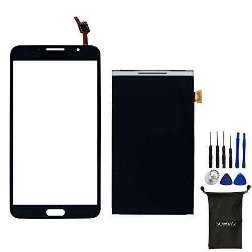 Samsung LCD Display Digitizer Ribbon Screen Replacement + Touch Digitizer Glass Lens Screen Replacement For Galaxy Mega 2 SM-G750 G750F G750A G750H With device opening tools