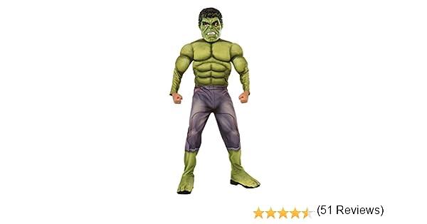 Rubies - Disfraz para niño, diseño Hulk de Marvel, talla M (610429M): Amazon.es: Juguetes y juegos