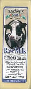 Heinis, Cheddar Raw Milk Cracker Cut, 8 Ounce