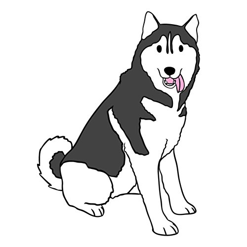 Duke The Siberian Husky Dog - 4 Inch Full Color Vinyl Decal for Indoor or Outdoor use, Cars, Laptops, Décor, Windows, and more