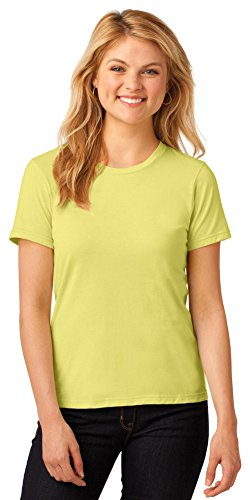 Anvil Cap Sleeve T-shirt (Anvil Womens Lightweight T-Shirt (880)- SPRING YELLOW,L)