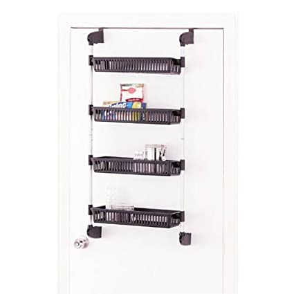 Organize It All Over The Door 4 Basket Hanging Storage Unit With Hooks