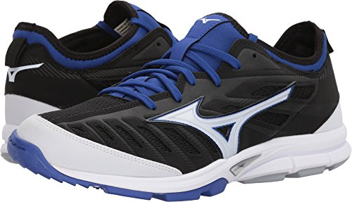 (Mizuno Men's Players Trainer 2 Turf Baseball-Shoes,Black/Royal,11.5 D US)