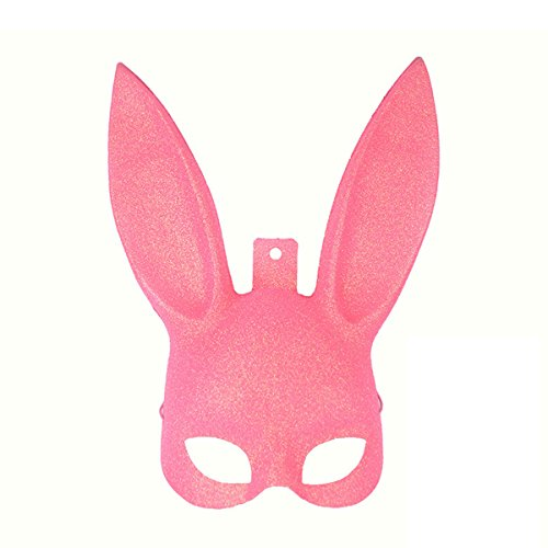 Jiele Rabbit Ears Mask Masquerade Plastic Rabbit Mask Animals Masks Halloween Bunny Disguises For Masquerade Costume Cosplay Rabbit Eye mask with Ears Accessory (Costume Halloween Facile)