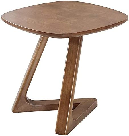 Zwbdb End Tables Bedside Table Nordic All Solid Wood Side Small Coffee Table Simple Modern Walnut Color Bedside Table Mini Sofa Seating Area