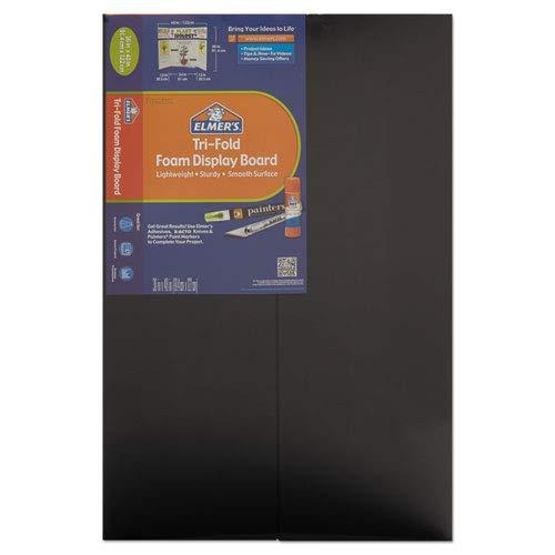 CFC-Free Polystyrene Foam Premium Display Board, 36 x 48, Black, 12/Carton, Sold as 12 Each