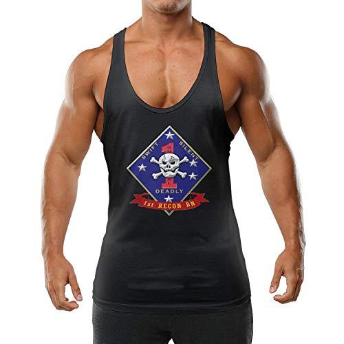 FYEIOUSS 1st Reconnaissance Battalion Mens Muscle Sleeveless Style Stringer Bodybuilding Gym Tank Tops Fitness Vest