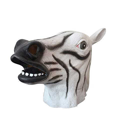 Mask Japanese - Cute Latex Horse Head Full Overhead Mask Celebrate Halloween Creepy Party Funny Cosplay Costume - Glasses Gold Women Face Hats Over Unicorn Party Pack Adults Full Dinosau ()