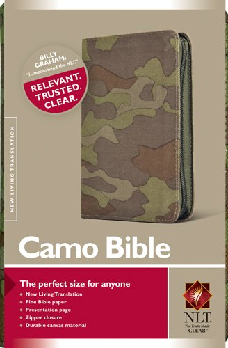 Camo Bible NLT (Canvas, Green)