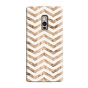 Cover It Up - Brown White Tri Stripes OnePlus 2 Hard case