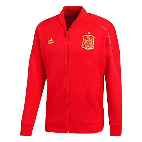 adidas 2018-2019 Spain ZNE Knitted Anthem Jacket (Red)