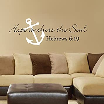 Amazon.com: Scripture Wall Decal- Anchor Wall Decal- Hope Anchors ...