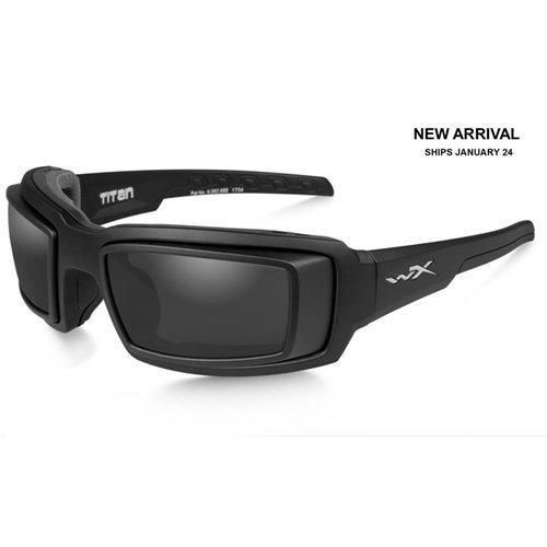 Wiley X CCTTN01D Titan Sunglasses Rx Rim & Grey Lens Matt Frame, Black