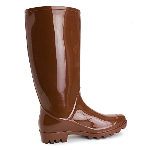 Women's Season Rain Boots Adults Outdoor Four Brown Easy p1qgOwxx