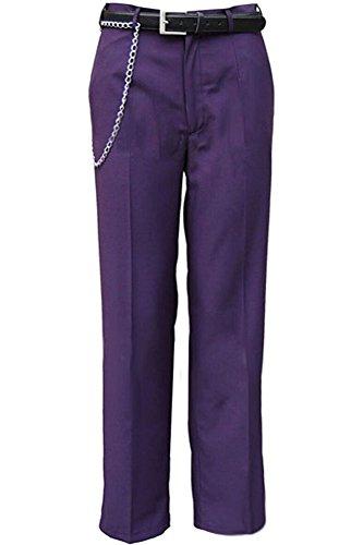 [Men's Dark Knight Joker Costume Purple Pants US Size] (Joker Costumes Dark Knight Halloween)