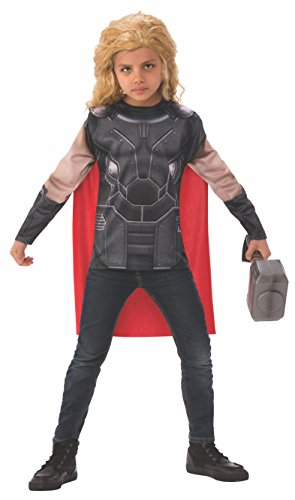 Thor Costume Design (Thor: Ragnarok Child's Thor Costume Top and Cape Set, Small)