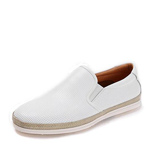 Zapatos de un resorte pedal/Plana redonda zapatos cabeza hombres blanco