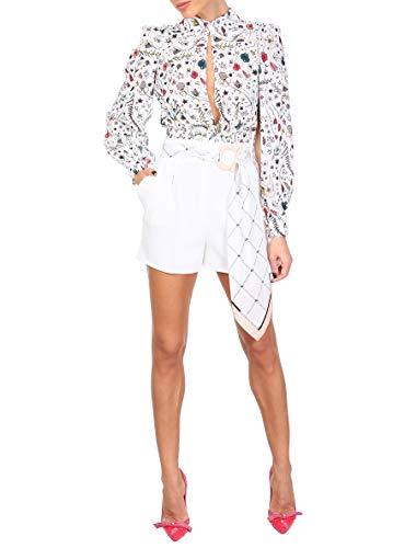 Mujer Elisabetta Sh02391e2360 Franchi Poliéster Shorts Blanco HwqYw54