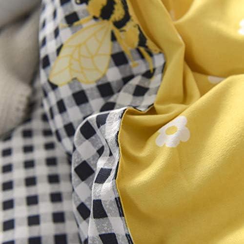 SlimpleStudio Le Nouveau Costume Quatre pièces en Cachemire végétal épais et Chaud est Confortable et Respirant Essentiel à la Maison-A8_Lit de 5 Pieds