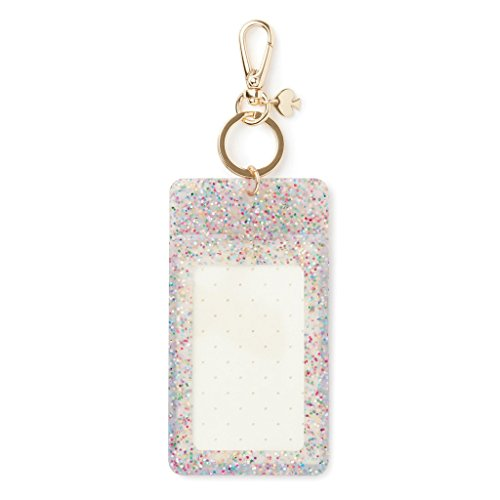 huge selection of 06873 cc382 Kate Spade New York Id Badge Clip Key Chain, Multi Glitter