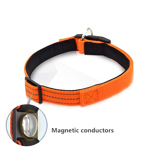 Pet Collar, Reflective Magnetic Dog Collar Magnetic Predection Supplies Night Safety Flash Dog Collar to Make Your Pet Visible and Safe in The Dark