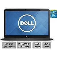 Dell XPS 15.6 High Performance Premium Laptop PC -15.6 QHD+ WLED Touchsreen, Intel Quad-Core i7-4712HQ, 16GB RAM, 512G SSD, 2GB Nvidia GT750M, WLAN, Backlit Keyboard, Win 8.1(Certified Refurbished)
