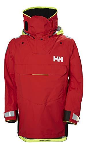Helly Hansen Men's Aegir Ocean Waterproof Breathable Sailing Dry Top, Alert Red, Large