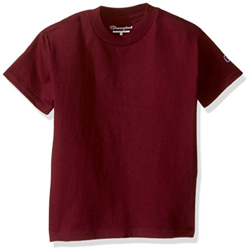 Champion Boys Boys' Big Short Sleeve Jersey Tee, Maroon Small by Champion Boys (Image #1)