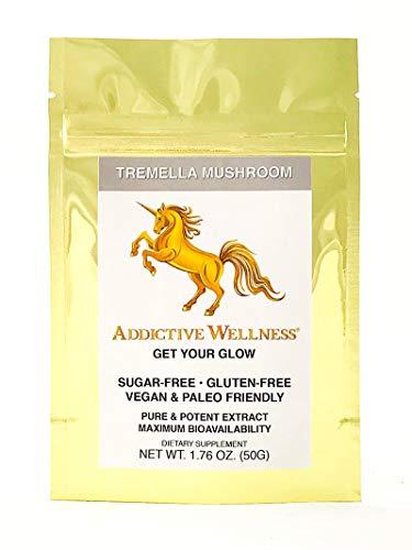(Addictive Wellness Tremella Mushroom Extract Powder Wood Grown Pure & Potent)
