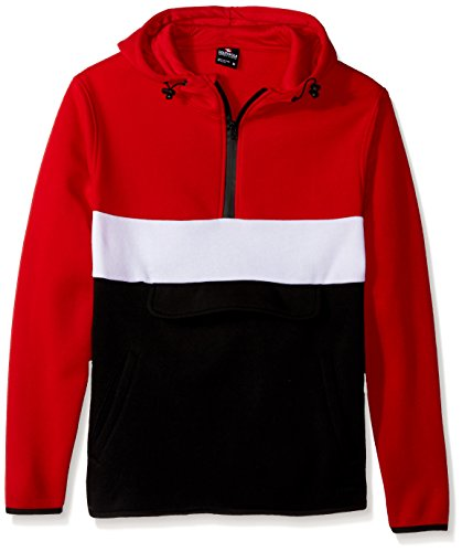 - Southpole Men's Fashion Hooded Top, Red(Anorak), Large