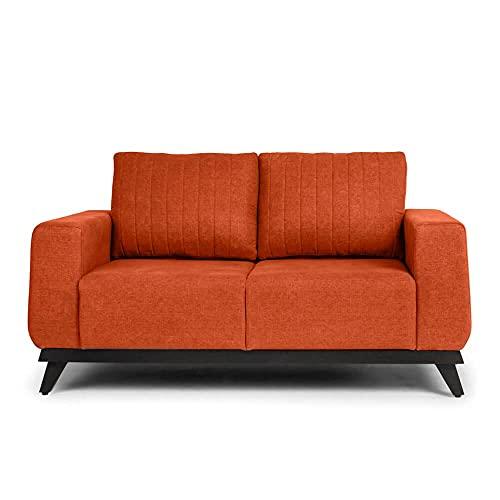 Wakefit Barcelona 2 Seater Sofa  Fabric, Terracotta