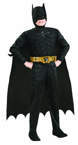 Kids Exclusive Costumes (Batman Dark Knight Rises Child's Deluxe Muscle Chest Batman Costume with Mask/Headpiece and Cape -)