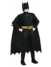 Batman Dark Knight Rises Child's Deluxe Muscle Chest Batman Costume With Mask/Headpiece and Cape - Toddler (size 2-4)