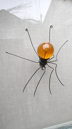 Orange Sun Catcher Window Spider Hanging Art Made to Order