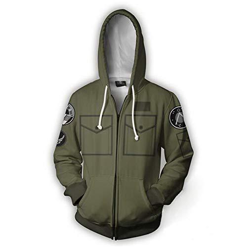 VOSTE Halloween Hot Movie Cosplay Costume Zip Up Hoodie Jacket (Large, Color -