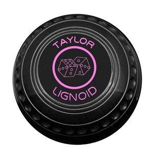 Taylor Lignoid Progrip Heavy Black Outdoor Grass Lawn Short Mat Bowls Set of 4