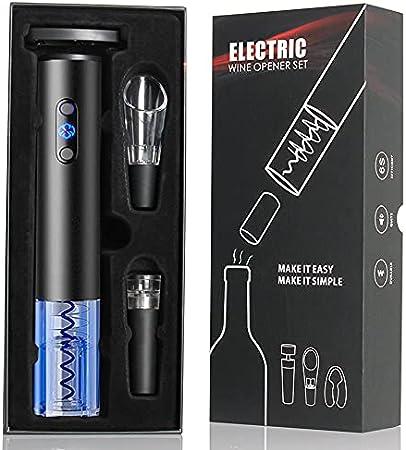 Sacacorchos Eléctrico,abrebotellas electrico incluye abridor de vinoautomático,tapones de vacío,cortador de papel, vino Pourer