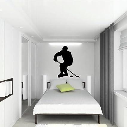 Amazon.com: Hockey Player (m) Wall Saying Vinyl Lettering Home Decor ...