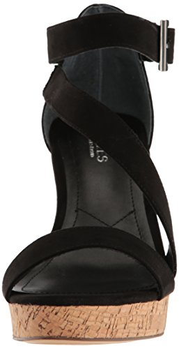 Charles David Sandal Microsuede Leanna Women's Charles Black by Wedge rqFrCH